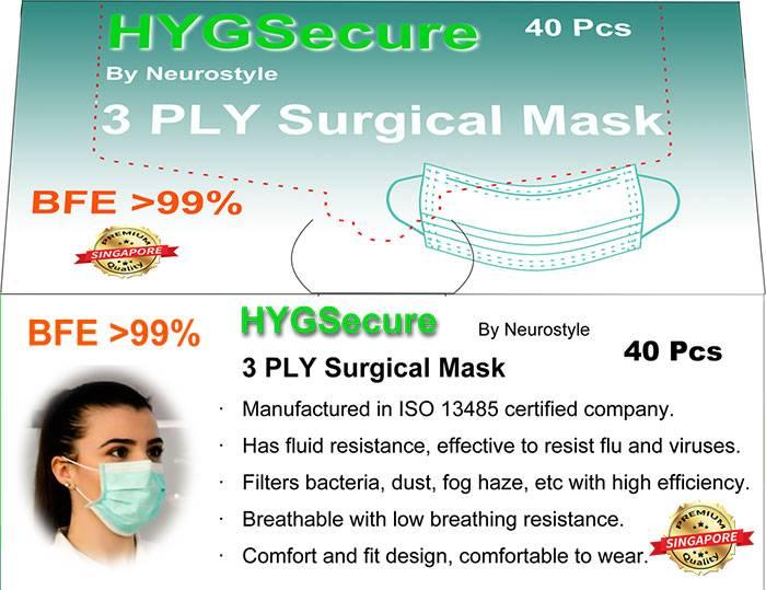 3-laags chirurgisch masker EAR